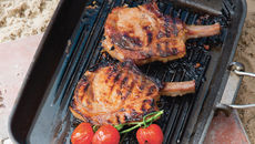 Gilled hampshire pork chops with honey and ginger recipe