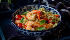 Prawns with quinoa