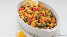 Spanish roasted veg paella recipe