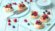 SuperValu Easter Recipes Sharon Hearne-Smith Coconut Lime Macaroon Berry Nest