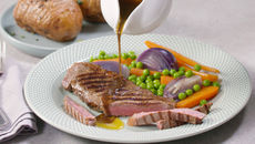 SuperValu Recipe Striploin Steak With Red Wine Jus