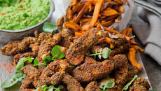 Chia Crusted Chicken Goujons