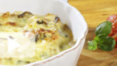 Chicken and Mushroom Crepe Bake