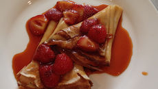 Crepe Suzette With Strawberry & Cream