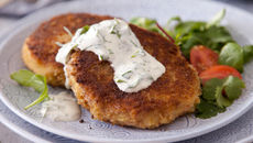 Salmon Fishcakes with Ginger and Coriander Dip