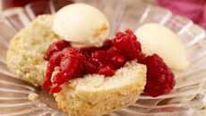 Homemade Scones & Raspberry Compote