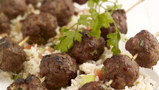 Mini Beef Kebabs with Warm Rice Salad