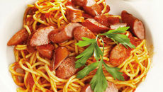 Sausage and Tomato Spaghetti