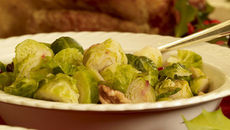 Brussels Sprouts with Caramelised Walnuts and Cranberries