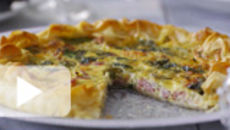 Smoked Bacon and Two Cheese Filo Tart