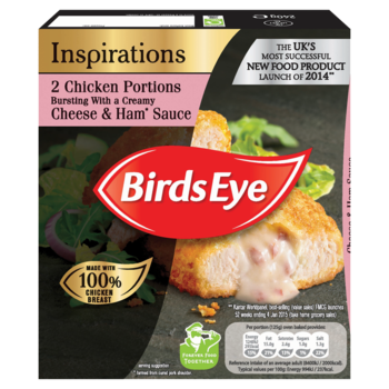 Birds eye inspirations chicken ham cheese