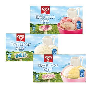 Hb ice cream range