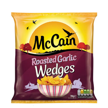 Mccain roasted garlic wedges
