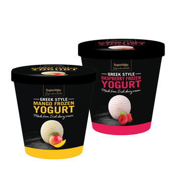 Supervalu signature tastes frozen yogurt