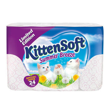 KittenSoft White Toilet Tissue 24 Roll