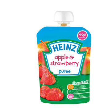 Heinz fruit pouches apple strawberry