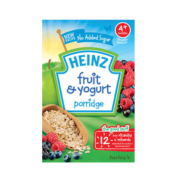 Heinz fruit yogurt porridge