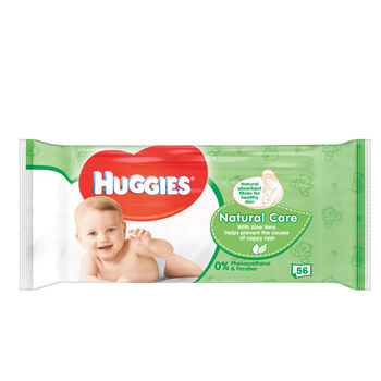 Huggies Natural Care Wipes 56pce