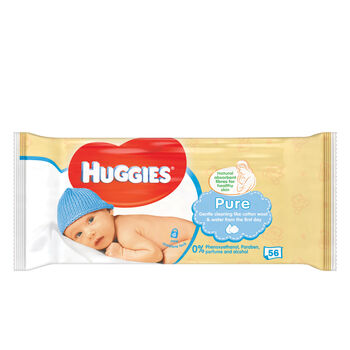 Huggies Pure Wipes 56pce