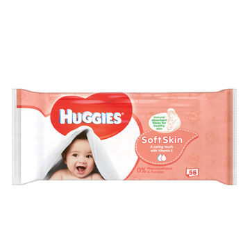 Huggies Soft Skin Wipes 56pce