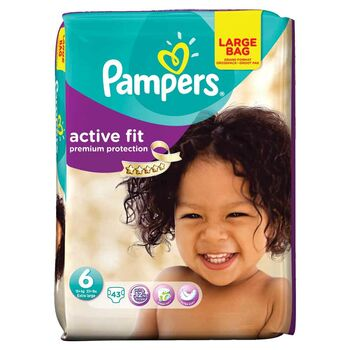 Pampers active fit 6