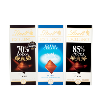 Lindt chocolate range