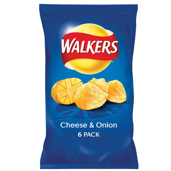 Walkers cheese & Onion 6pack