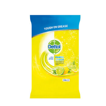 Dettol Power and Fresh citrus wipes 126pce
