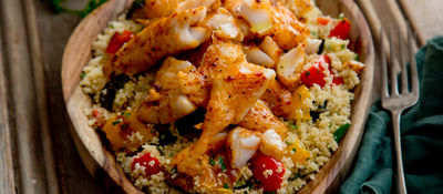 Spicy whiting couscous recipe