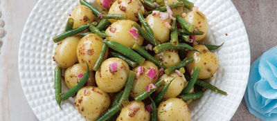 Baby Potato and French Beans Salad
