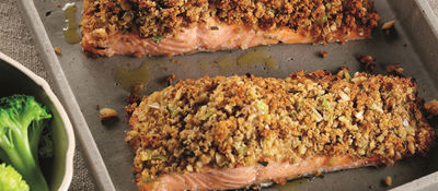 Salmon with Crunchy Tarragon Crumb