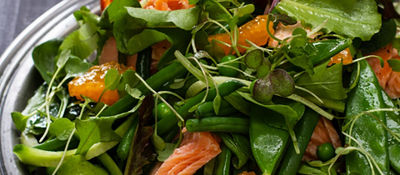 Salmon Salad with ClemenGold and Ginger Dressing 6  533x800