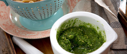 Easy pasta coriander pesto recipe