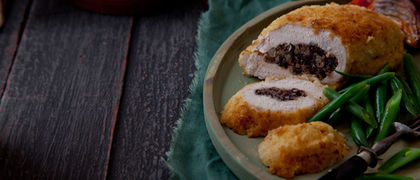 Chicken stuffed black pudding  recipe
