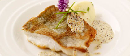 Cod with chive mash recipe