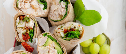 Roast chicken wraps 3 ways recipe
