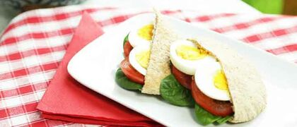 Breakfast Pitta Recipe