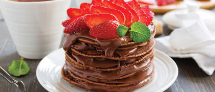 Chocolate strawberry pancakes website