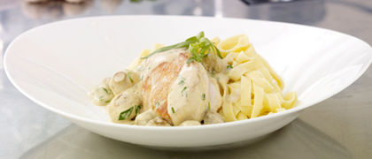 Stuffed Chicken Supreme With Mushroom Cream Sauce