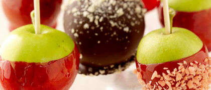 Chocolate & Caramel Candy Apples