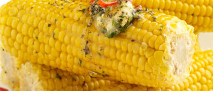 Corn on the Cob with Chilli Butter
