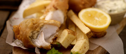 Traditional Battered Fish with Chunky Chips