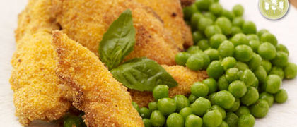 Gluten Free Chicken Nuggets with Skinny Chips & Garden Peas