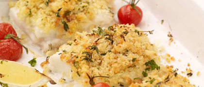 Herb Crusted Hake with Lemon Butter
