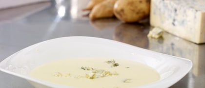 Creamy Potato & Cashel Blue Cheese Soup