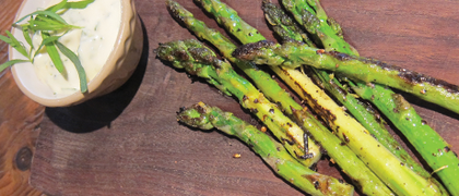 Grilled Asparagus with Tarragon Mayonnaise