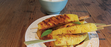 Grilled Pineapple with Cinnamon and Tequila