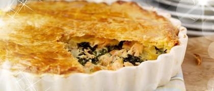 Salmon and Spinach Puff Pie