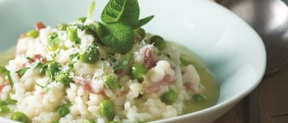 Garden Pea and Mint Risotto
