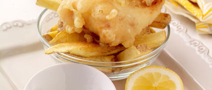 Beer Battered Fish with Chunky Chips